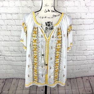 Calypso St.Barth Embellished Boho tunic top